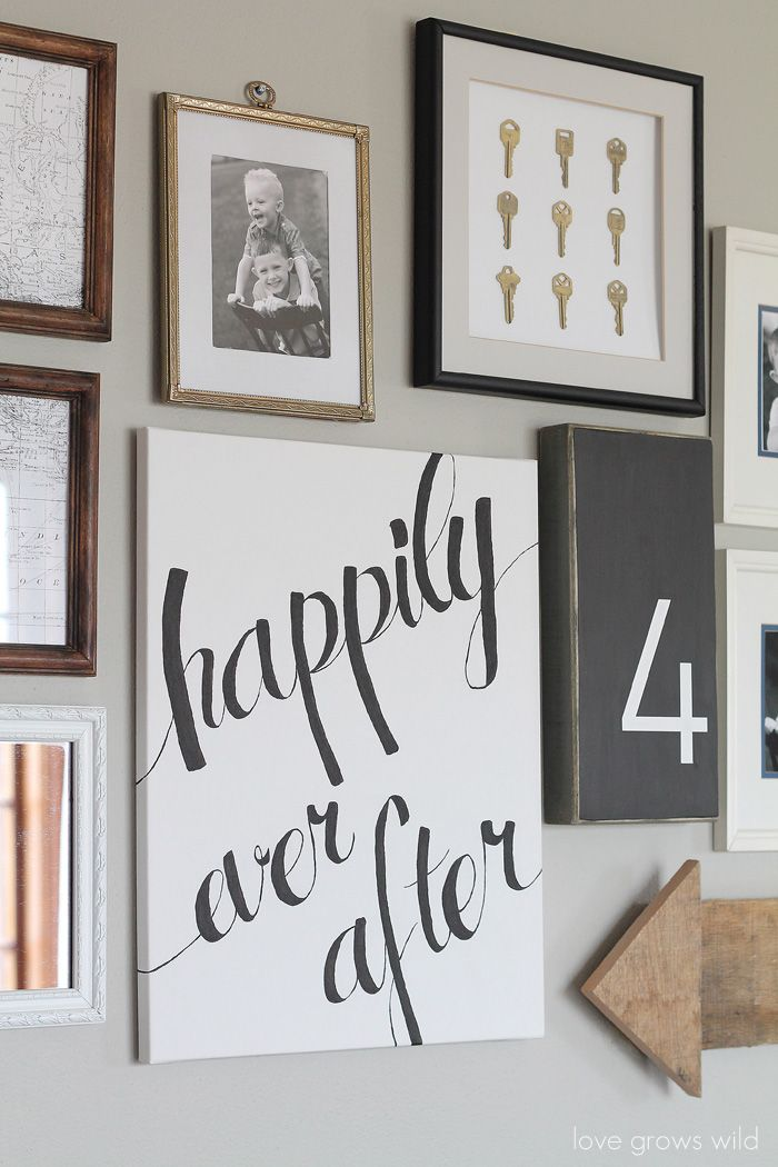 Learn how to create a fun, personal, and creative Gallery Wall for LESS THAN $20...