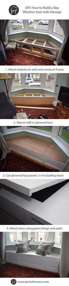 Decor Hacks Steps For How To Build A Bay Window Seat