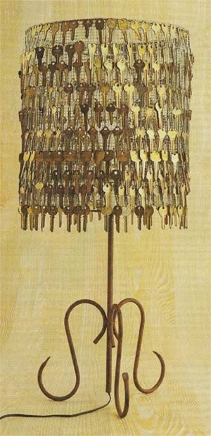 Super cool key chandelier