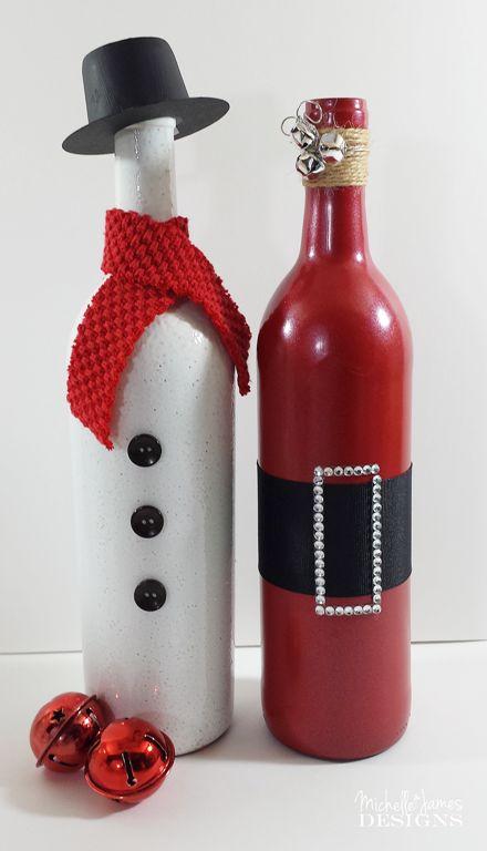 Decorative Bottles Holiday Wine Michellejdesi Create These Two Bott