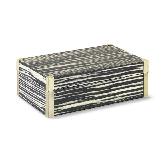 Exotic Wood & Brass Box, Black Zebrawood | Williams-Sonoma