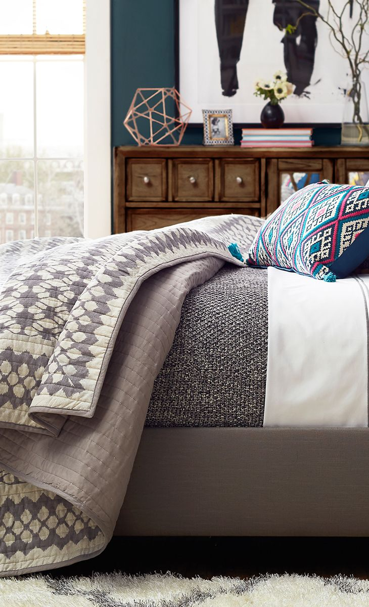 Furniture Bedrooms Add A Pop Of Pattern To Your Master