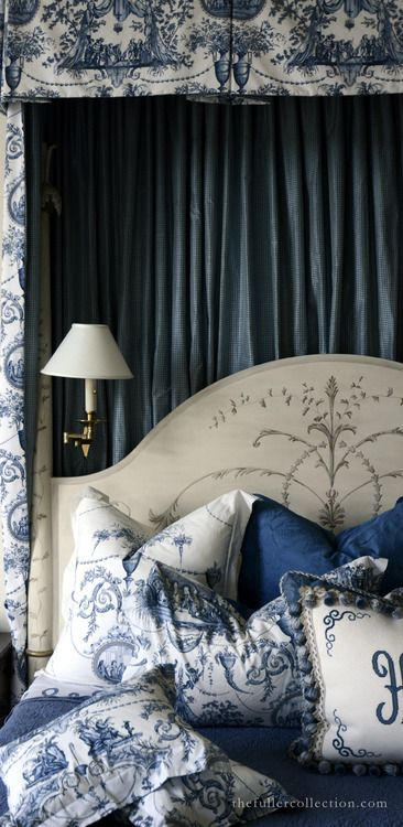 Furniture Bedrooms Blue And White French Country