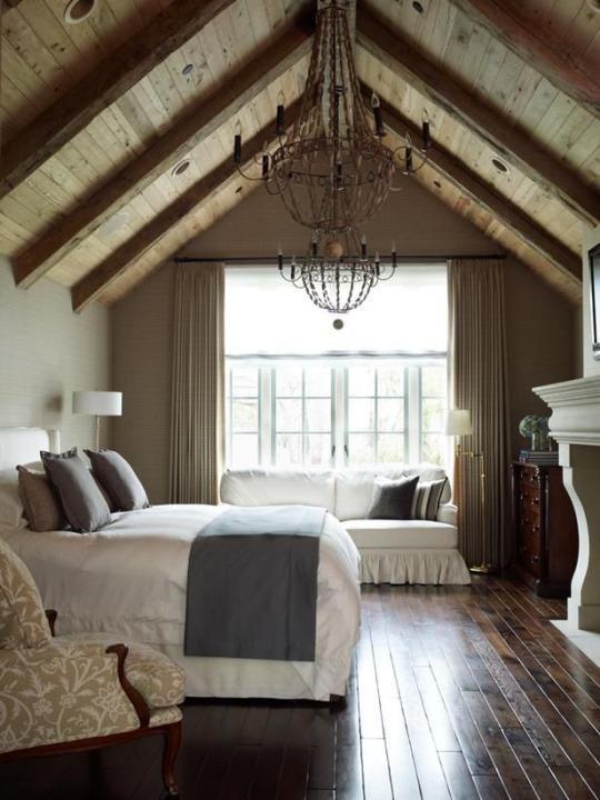 Furniture - Bedrooms : Lovely attic master bedroom, wood ...