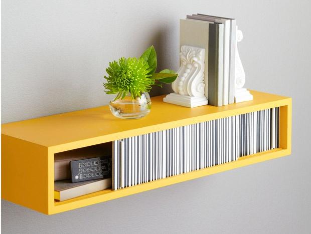 DIY: floating wall shelf