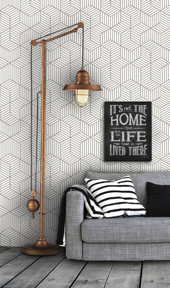 Home Decorating Diy Projects Geometric Pattern Self Adhesive Vinyl Wallpaper D045 By Livettes
