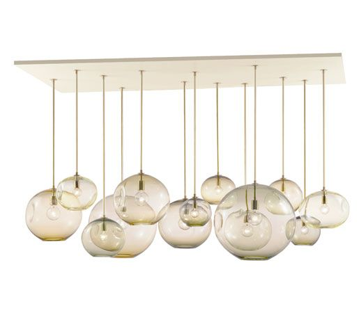 Interior Design Magazine: The Ripple Chandelier by JGOODDESIGN is organic and gr...