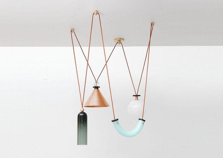 Interior Design Magazine: Shapeup pendant fixtures with copper by Ladies & Gentl...