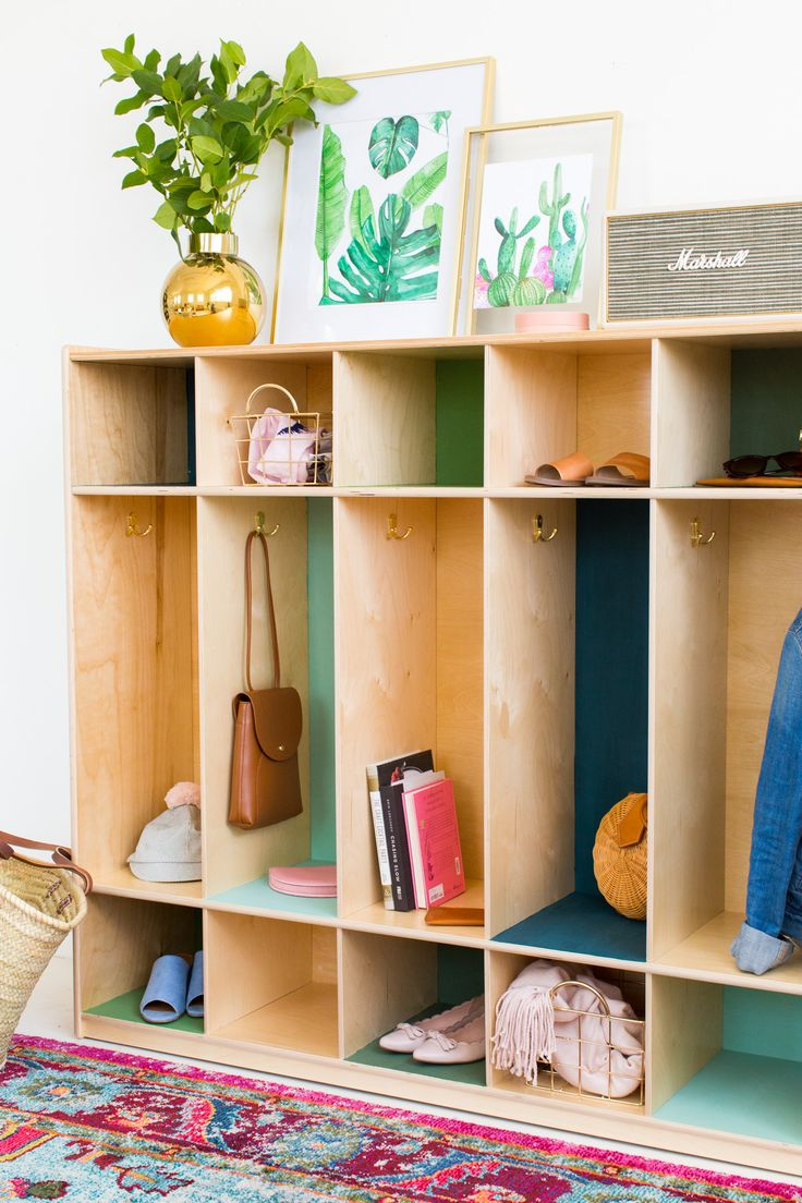 DIY Color Block Storage Lockers by top Houston lifestyle blogger Ashley Rose of ...