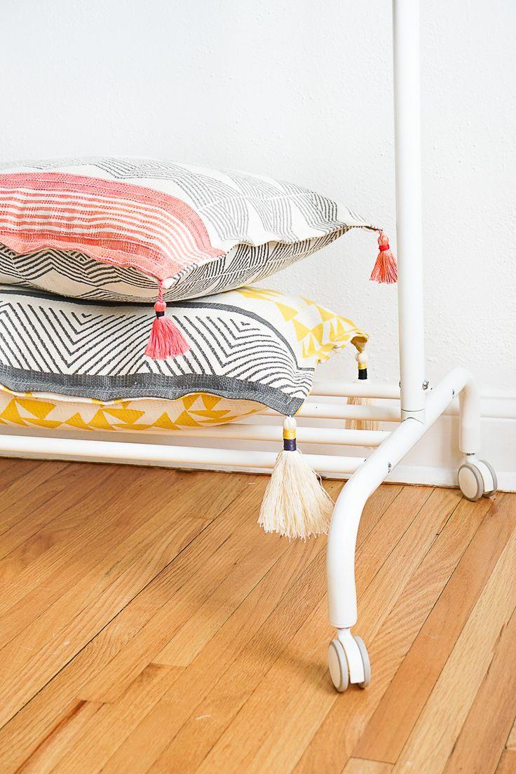 Home decor diy 39 s diy tasseled throw pillows by ashley for Best diy home decor blogs