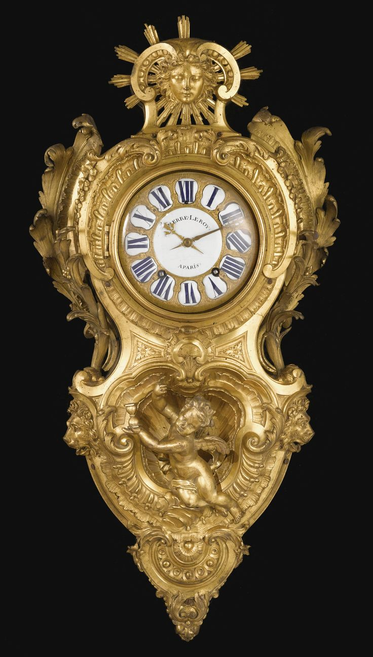 An important and rare Louis XV ormolu cartel clock, attributed to Charles Cresse...