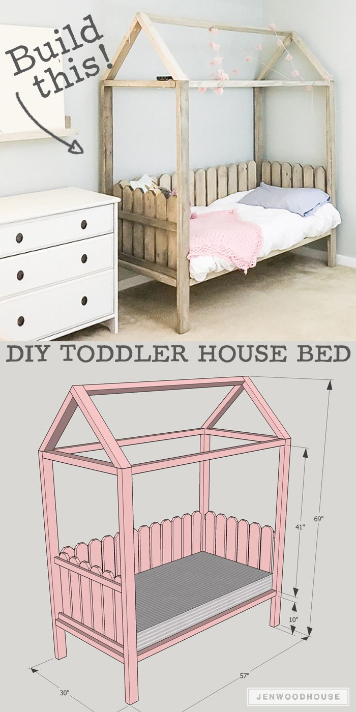 Decor diy inspiration how to build a diy toddler house bed plans by jen woodhouse decor - How to sell home decor online plan ...