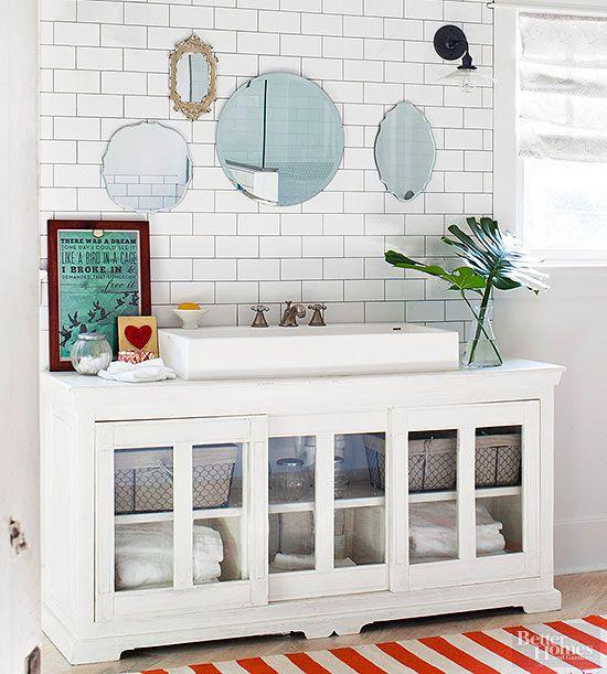 Decor hacks a long media cabinet becomes the perfect for Bathroom decor hacks