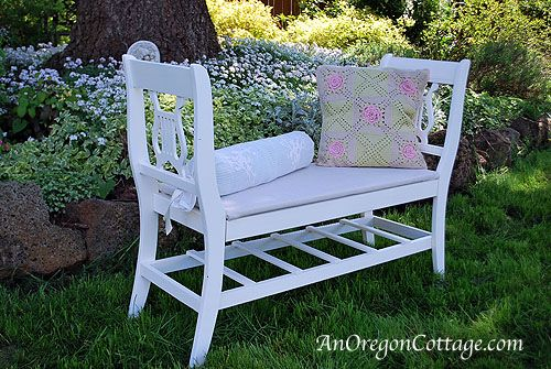How To Make A French-Styled Bench From Broken Chairs - An Oregon Cottage