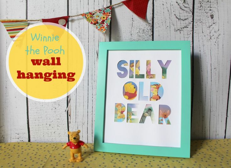 how to make a  winnie the pooh wall hanging using an old copy of the book #disne...