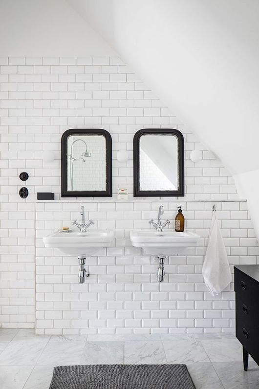 Decor hacks white bathroom with lots of tile decor for Bathroom decor big lots