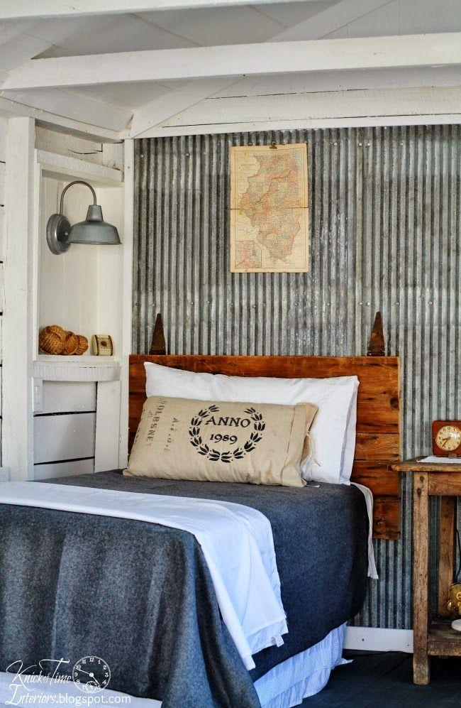 Furniture - Bedrooms : .Corrugated metal, boy's bedroom ...