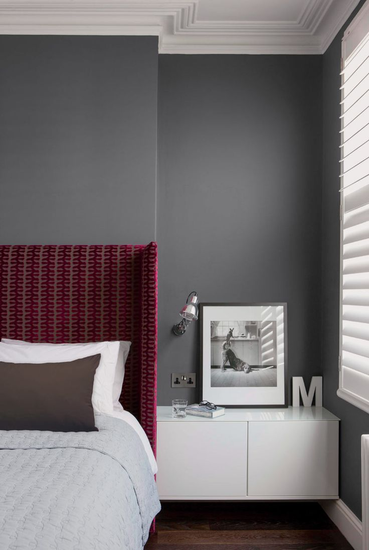 Gray Bedroom on Design Milk // Pantone-Valspar-Paint