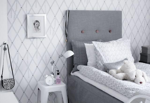Gray & White Bedroom