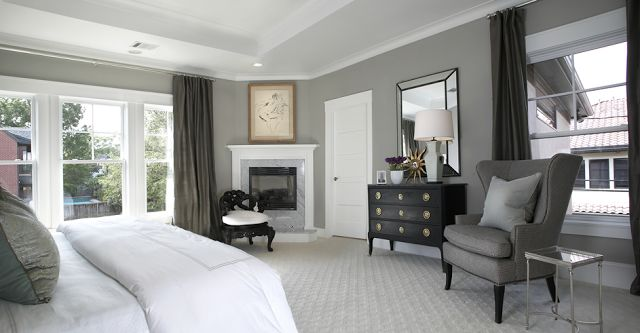 Furniture - Bedrooms : gray/white bedrooms with dark ...