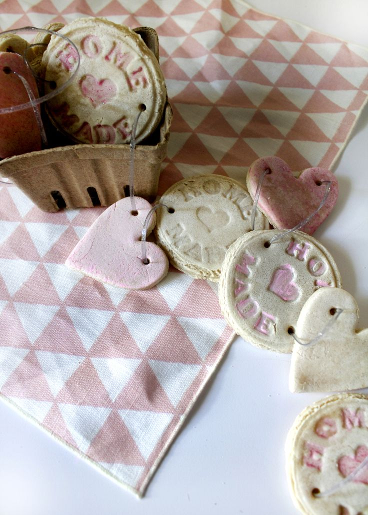 Home decorating diy projects make salt dough shapes for Diy valentine s day decorations for home