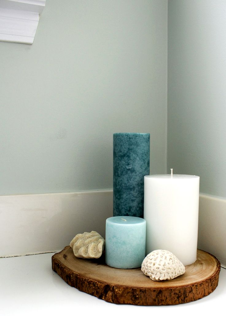 Tranquil Candles Add Texture To Bathroom
