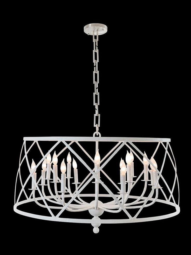 Fisher Weisman Collection's Drum Chandelier is handcrafted from papier mâché