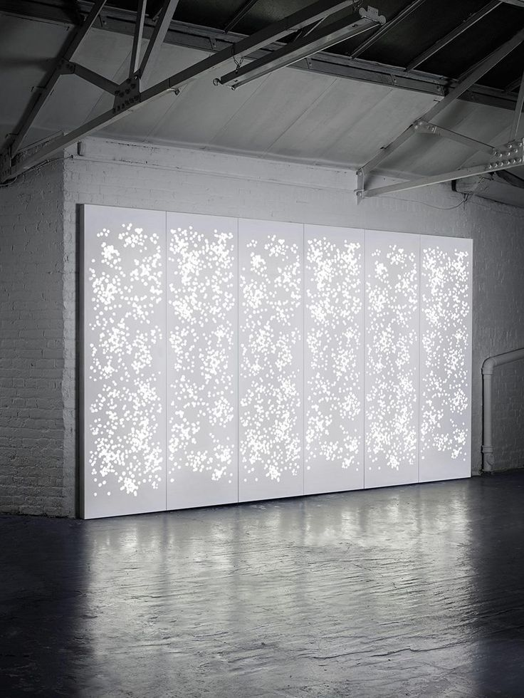 Isomi's Light Wall accommodates a variety of translucent patterns