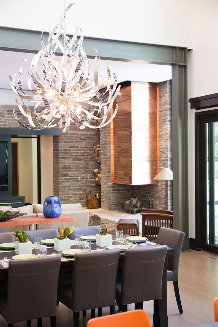 Smoke crystal diffusers and handcrafted iron create a space defining feature in ...