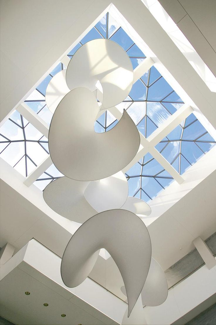 Studio Lilica fabricated the kinetic-themed Nine Wings Mobile Sculpture out of f...