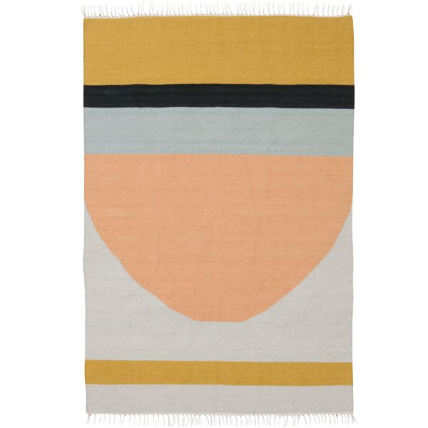 Kelim carpet, Semicircle, large, by Ferm Living.