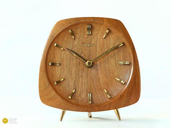 Clocks Decor Mid Century Dugena Kienzle Teak Desk