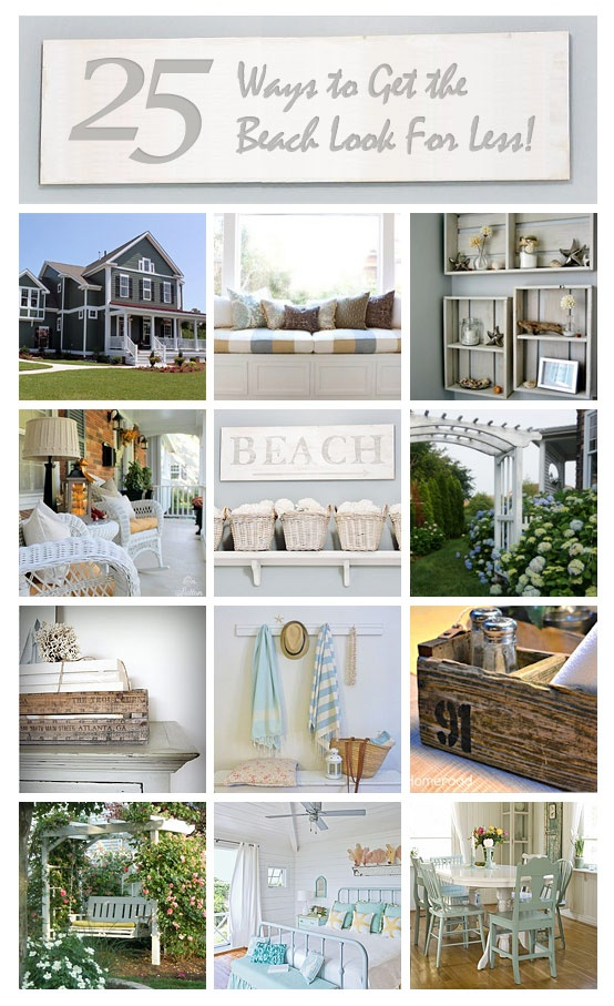 Decor Hacks 25 Ways To Get The Beach House Look For Less Decor Object Your Daily Dose Of