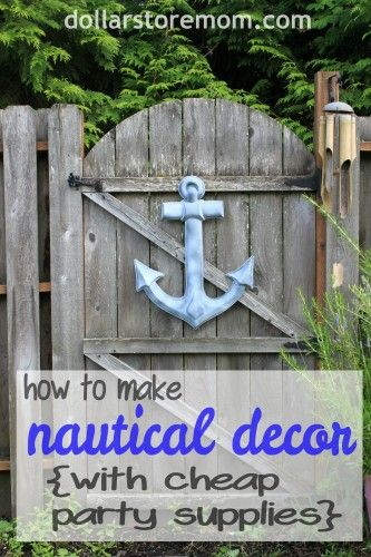 how to make nautical decor from cheap party supplies