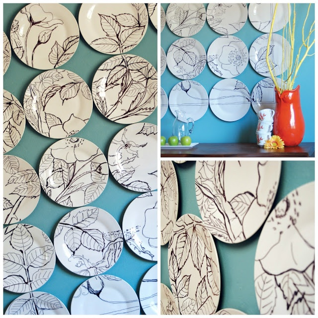 While They Snooze: Anthropologie Plate Art Knockoff Tutorial