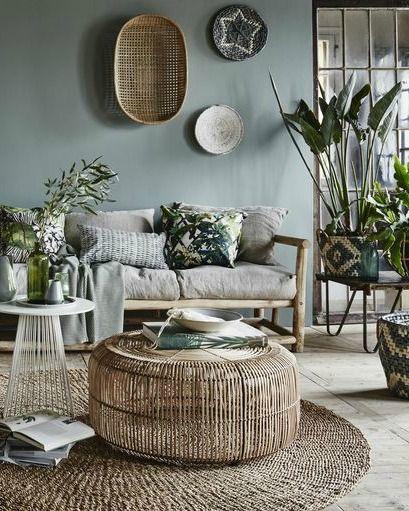 Natuurlijke materialen en tinten. Mooie kleur voor de slaapkamers. Source: vtwon...