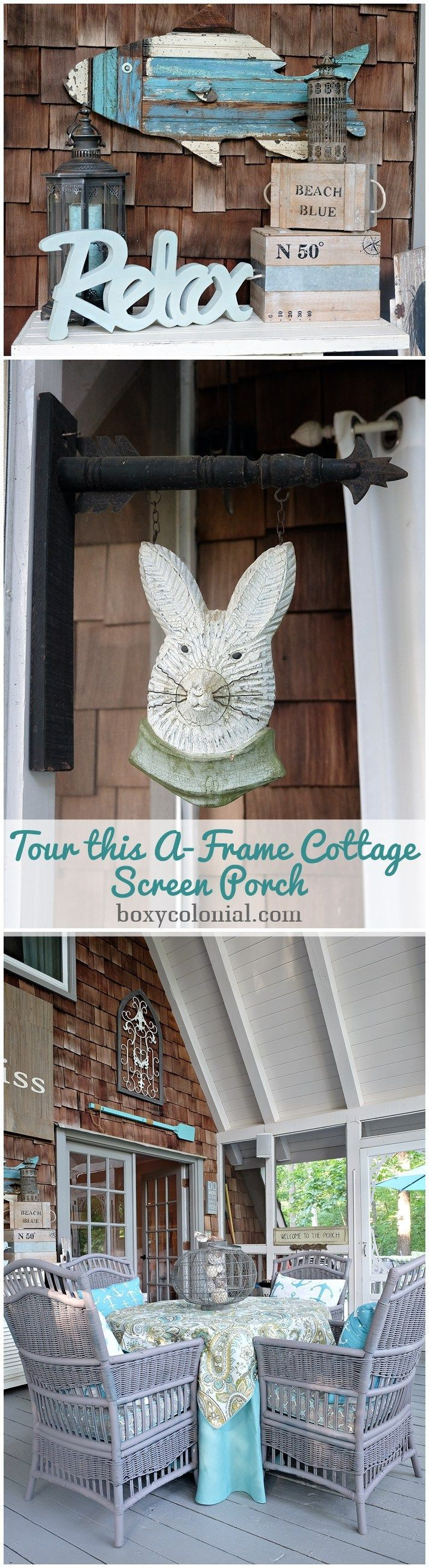 My Mom's A-frame House Tour, Part 3: The Screen Porch -