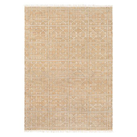 Eliane 6' X 9' Natural Fiber Geometric Rug In Grey