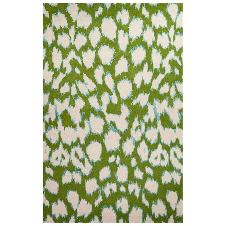Kate Spade New York Gramercy Leopard Ikat Rug, Green