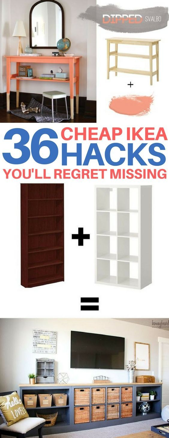 BRILLIANT Ikea hacks you have to see to believe! Cheap & easy ikea hacks, diy ho...