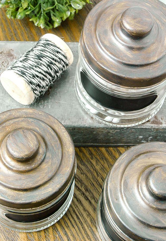 How to Age Inexpensive Dollar Tree Storage Jars