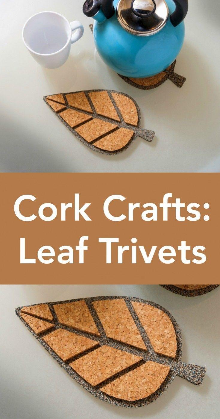 How to Make Leaf Cork Trivets in Four Easy Steps