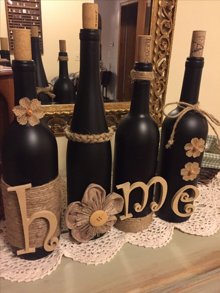 Decorative Bottles Ta Da Wine Bottle Craft With Jute And