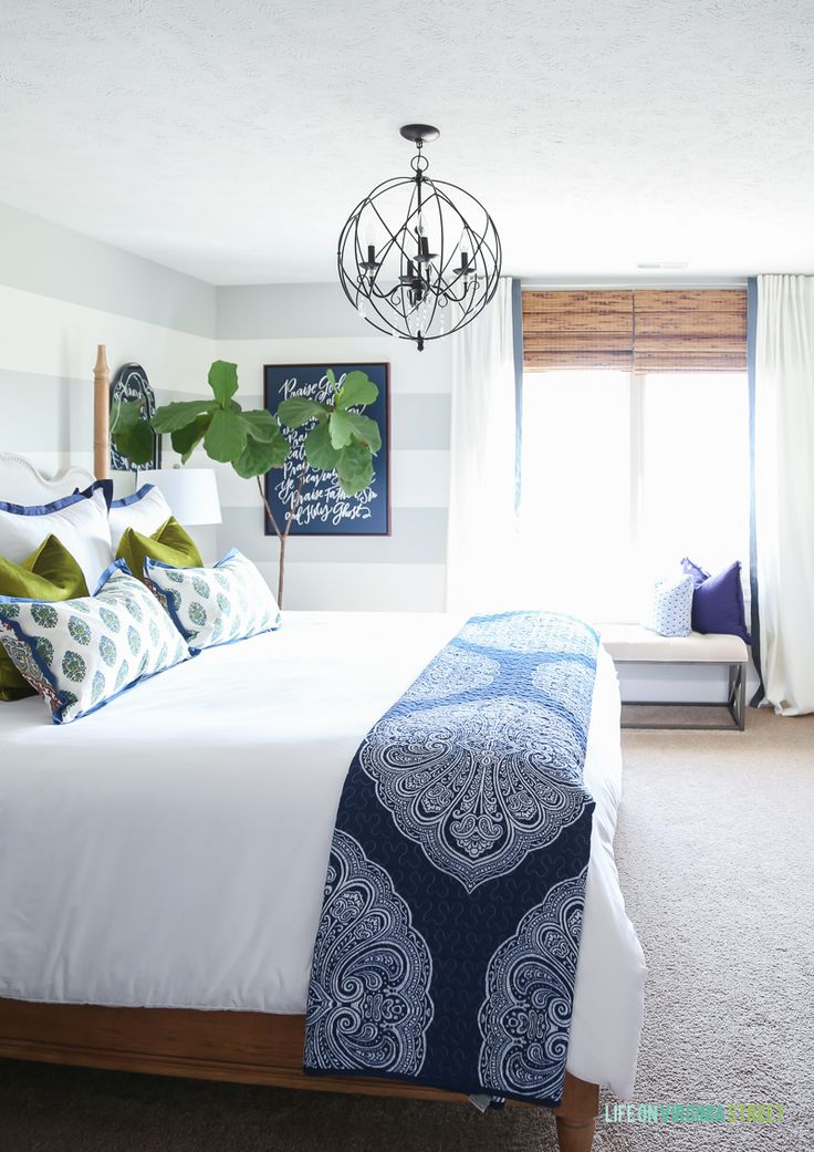 Furniture Bedrooms Guest Bedroom With Woven Shades