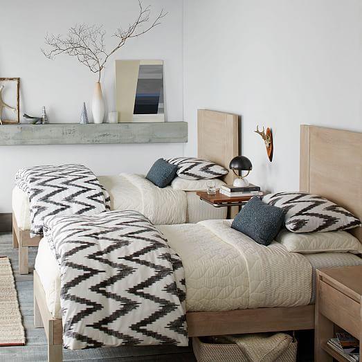 Your Organic Bedroom: Bedrooms : Organic Chevron Duvet Cover + Shams
