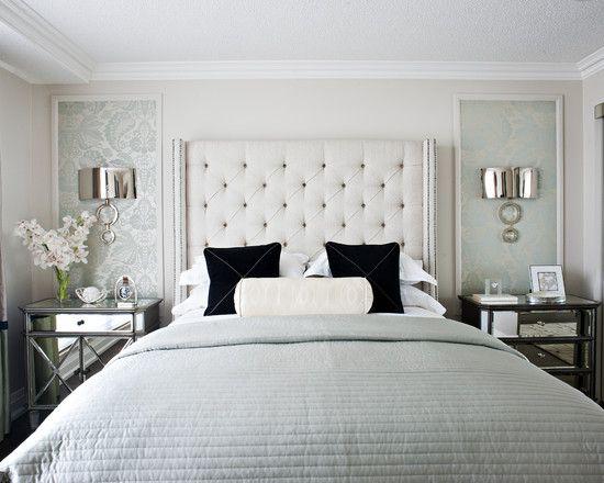 Furniture Bedrooms Spaces Framed Wallpaper Design Pictures