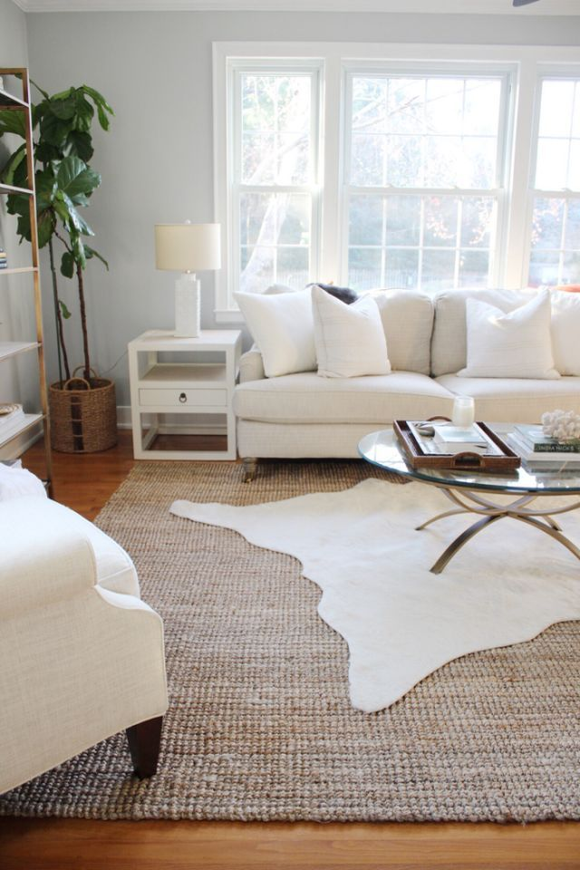 Image result for cowhide over rug
