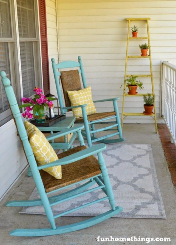 Gardening and Outdoor Decor : Fun front porch makeover for Spring ...