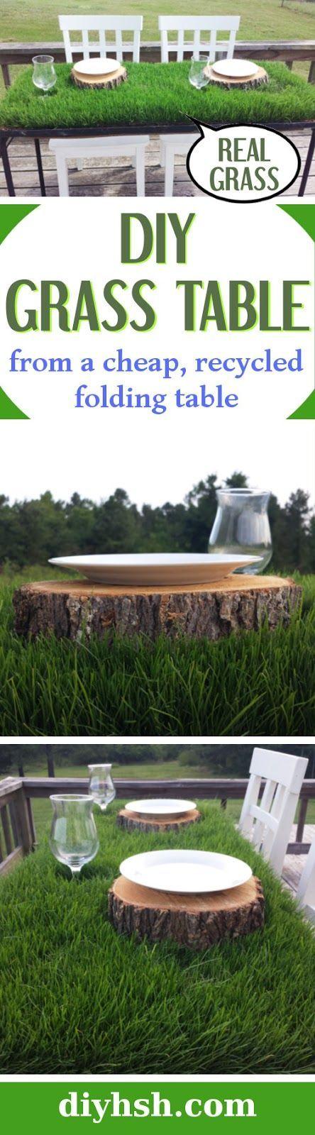 DIY Grass Table