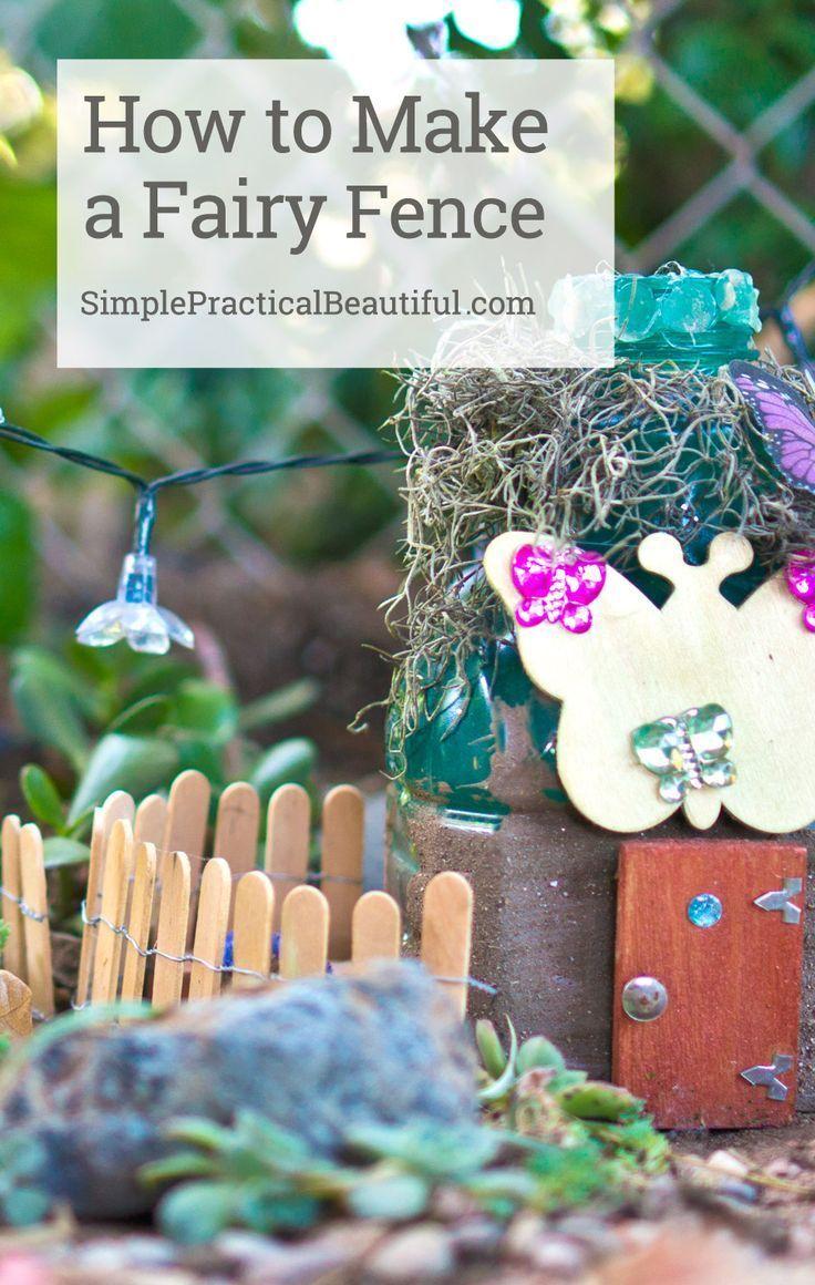 Outdoor Decorating/Gardening : Make a simple DIY fairy garden fence